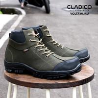 Sepatu safety boots pria original cladico volta canvas premium ringan