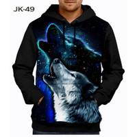Jaket Wolf 3D Fullprinting Jaket Hoodie Sweater Anak #JK-49