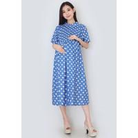 Eve Maternity Baju Hamil Menyusui Rayon Dress Nyaman FDM168