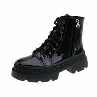 sepatu boot wanita British kekinian masa kini koreaan