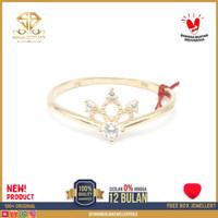 cincin emas kuning wanita perhiasan emas asli kadar 375 CMM081 R14