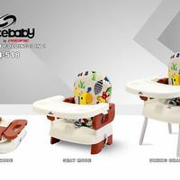 meja makan bayi / kursi makan babychair plastik