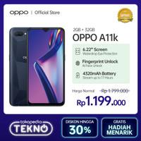 OPPO A11K Smartphone 2GB/32GB (Garansi Resmi) - Hitam