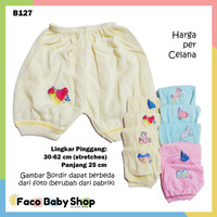 B127 Celana Pendek Bayi SNI Warna Motif Bordir Laki-Laki Perempuan
