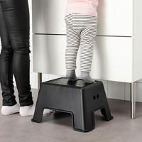 BLMN Bangku tangga anak/ bangku jongkok/kursi plastik, hitam