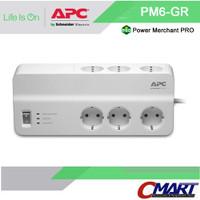 APC colokan listrik steker 6 port Surge Protector Arrester - PM6-GR