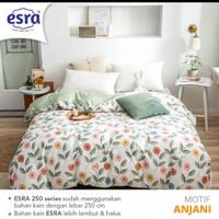 sprei bedcover katun premium size 90-200 motif anjani - 90x200, Tinggi 20cm
