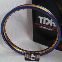 VELG TDR W SHAPE UKURAN 185 x 17 BLUE GOLD RING 17