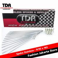 TDR Jari Jari Spoke Stainless 9/10 x 162 / Sparepart Motor / Belakang