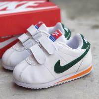 Obral Sepatu Anak Nike Cortez Putih List Hijau 16-35