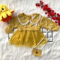 Baju dress pergi jalan lucu bestseller anak bayi cewek perempuan