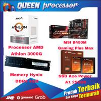 ATHLON 3000G+MSI B450 GAMING PLUS MAX+ Hynix DDR4 4GB+ACE POWER SSD256