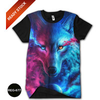 Kaos Wolf Darklight 3D Baju Anak Wolf Serigala #REG-677 - No.1 (1-2 thn)