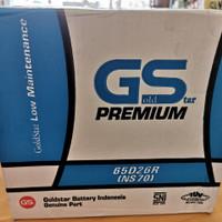 Aki mobil/Genset/ Goldstar GS Premium NS70 / Gs 65D26R/ GS NS 70/ 65AH