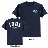 Baju Kaos Pria Distro Greenlight 3second Original Depan Belakang - Biru, M