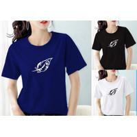 Kaos wanita combed 30S/t-shirt wanita/ atasan wanita K0057 - Navy, M