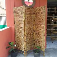 Sketsel / Pembatas Ruangan / Partisi Bambu Cendani