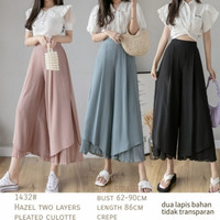Two Layers Pleated Cullote Import 1432 Celana Rok Kulot