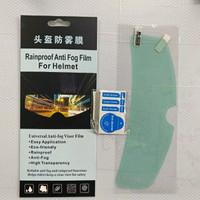 sticker kaca helm anti embun atau kaca film visor helm antifog