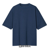 Infinide T-Shirt Kaos Polos BIG OVERSIZE NAVY Cotton Combed 24s