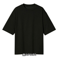 Infinide T-Shirt Kaos Polos BIG OVERSIZE HITAM Cotton Combed 24s