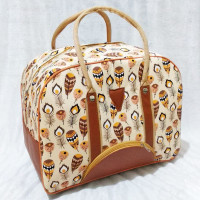 TRAVEL BAG KANVAS BESAR Tas Traveling Travel Bag Kanvas Motif jumbo 3