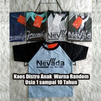 Baju Kaos Anak Laki Laki Harian Katun Combed Umur 2-10 Tahun Random
