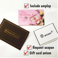Emas Antam 0,5 Gram Gift Series - Gift Card Happy Wedding Pink