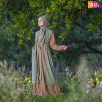 Ori Nibras Gamis Model Terbaru 2021 Nb b13 Baju Syari Promo Murah Pink