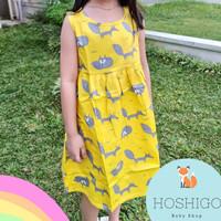 HOSHIGO - Baju Dress Anak Perempuan Katun Lembut Cute 2