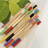 Sikat Gigi Bambu Warna Warni Dewasa & Anak / Bamboo Toothbrush