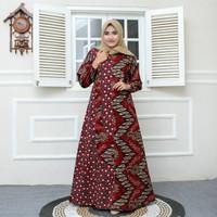 batik gamis Baju remaja batik longdres wanita muslimah mantul new