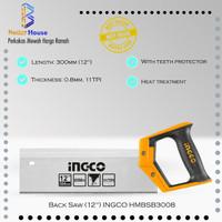 Back Saw 12 inch INGCO HMBSB3008 Gergaji Kayu Presisi Sudut Pigura