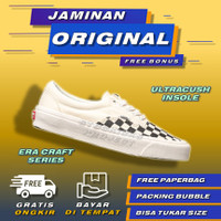 Vans Era Craft Podium Checkerboard Black White Sepatu Vans Catur Ori