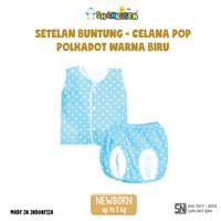 Setelan Baju Bayi Buntung - celana pop Shankusen Polkadot Warna 3 stel
