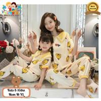 Baju Tidur Couple Ibu Dan Anak Import Bebek Kuning Panjang #17
