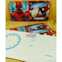 Kartu Undangan Ulang Tahun Karakter SPIDERMAN