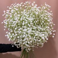 Bunga Baby Breath Warna Putih Plastik Dekorasi Hiasan Pelaminan FX 8