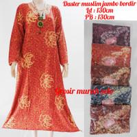 Daster Muslim jumbo bordir baju tidur santai longdress batik
