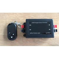 Dimmer lampu single color 5-24vdc + remote max load 8ampere