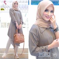 Baju Wanita Muslim Atasan Muslimah Modern Remaja Terbaru Willa Tunik
