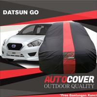 cover mobil Datsun go auto cover list merah waterproof
