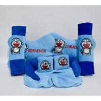 Bantal Mobil DORAEMON Biru Car Pillow Set Kartun Doraemon Blue 3 in 1