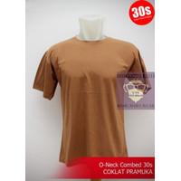 Tshirt Baju Oblong Kaos Polos wanita COTTON COMBED 30s Coklat Pramuka
