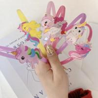 Bando anak perempuan unicorn lucu korea bandana warna warni cantik - A