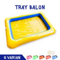 Mainan Anak Tray Balon + Pompa | Edukasi Pasir Ajaib