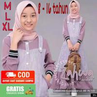 Baju gamis anak perempuan Busana Muslim Remaja tanggung 12 Tahun