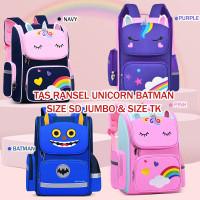 Tas sekolah Unicorn bisa isi Laptop SD TK Tas Laptop Ransel ergonomis