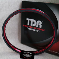 Velg Rim TDR Wx Shape 2 Tone Ring 17 x 160 Hitam Merah Black Red