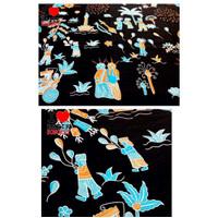 Bahan katun ondel motif 7 kain atasan bawahan batik kebaya batik